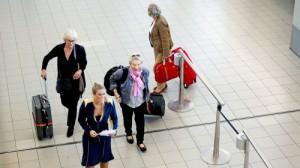 Visum op het vliegveld